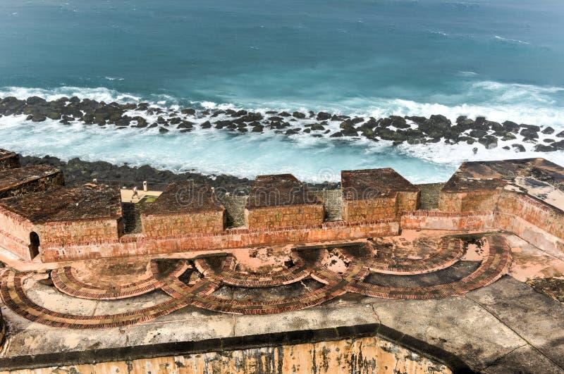 Castillo del EL Morro, San Juan, Puerto Rico fotos de archivo libres de regalías