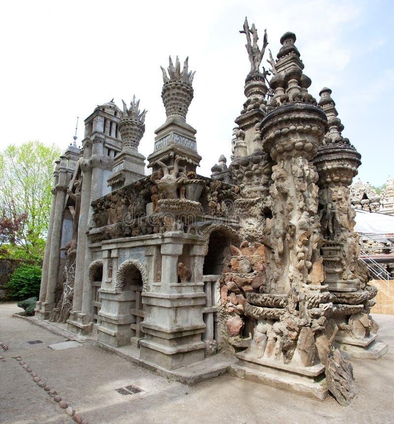Castillo del ideal de Palais imágenes de archivo libres de regalías
