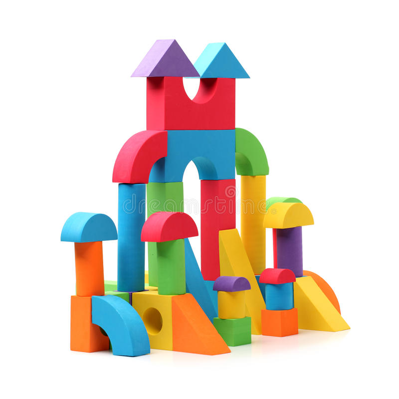 Castillo del juguete imagenes de archivo