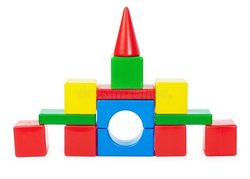 Castillo del juguete aislado en blanco imagen de archivo