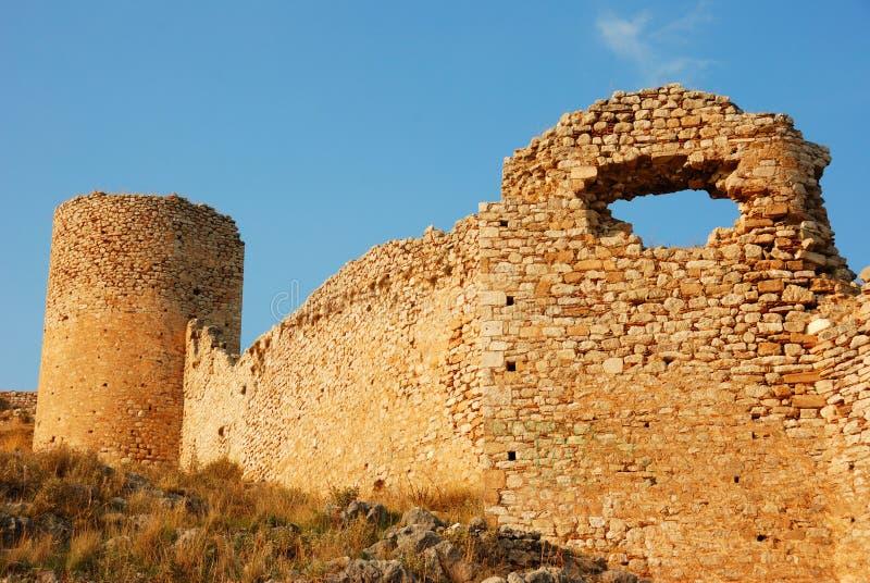 Castillo del larisa, Grecia fotografía de archivo