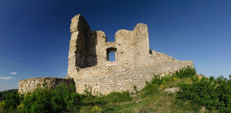 Castillo del od Devin de la ruina imágenes de archivo libres de regalías
