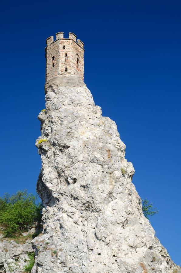Castillo del od Devin de la ruina imagen de archivo libre de regalías