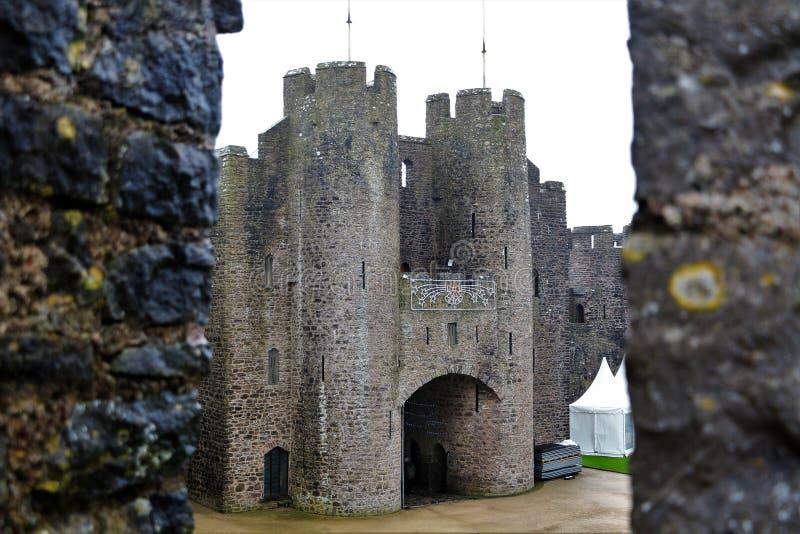 Castillo del oeste de País de Gales donde Henrio el 8vo una vez que está gobernado foto de archivo