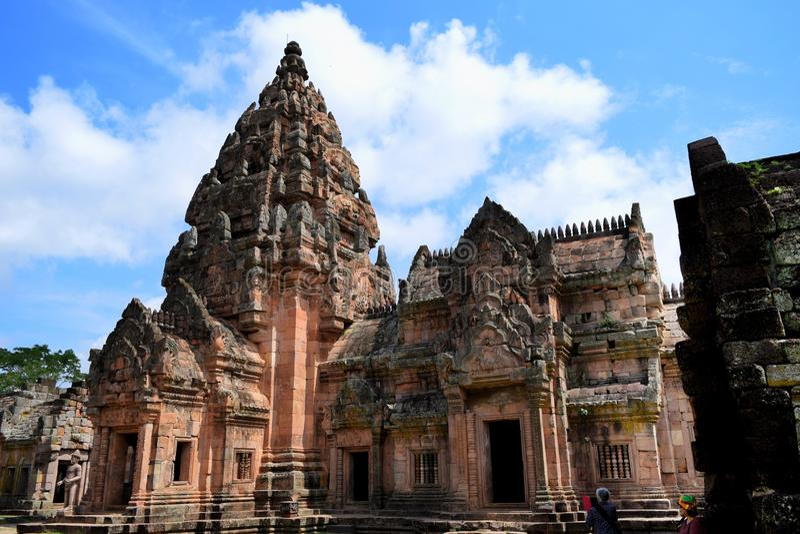 Castillo del roong de Phanom fotos de archivo