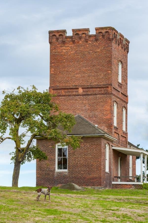 Castillo del ` s de Alexander en el fuerte Worden Washington fotografía de archivo