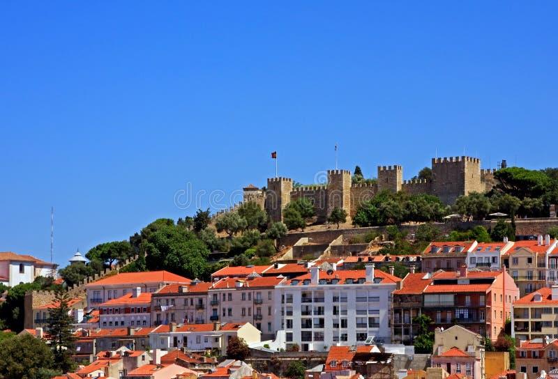 Castillo del sao Jorge foto de archivo