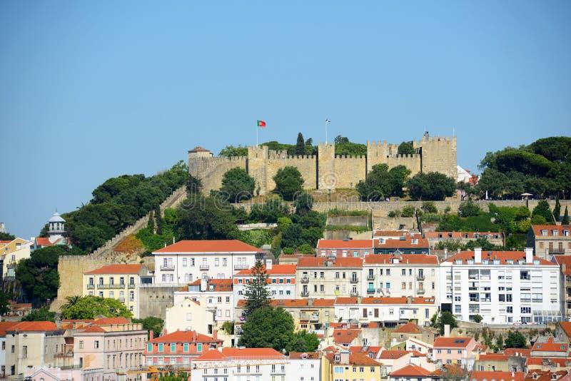 Castillo del sao Jorge, Lisboa, Portugal fotografía de archivo