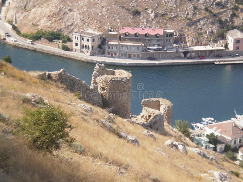 Castillo del trineo en la playa imagen de archivo