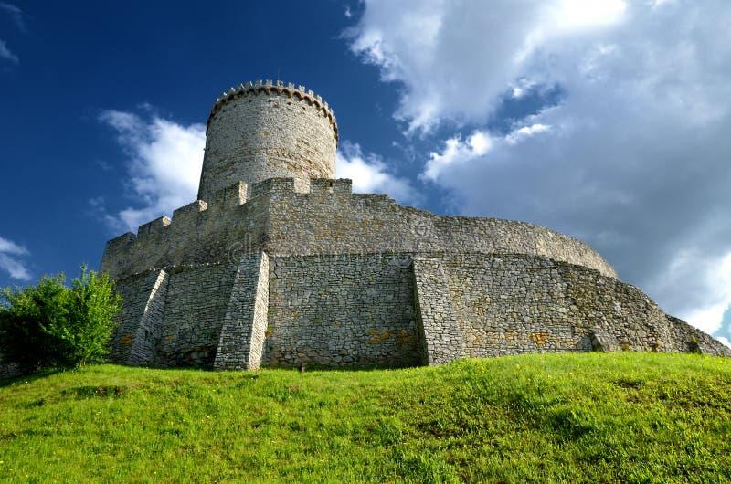 Castillo en Bedzin, Polonia fotos de archivo