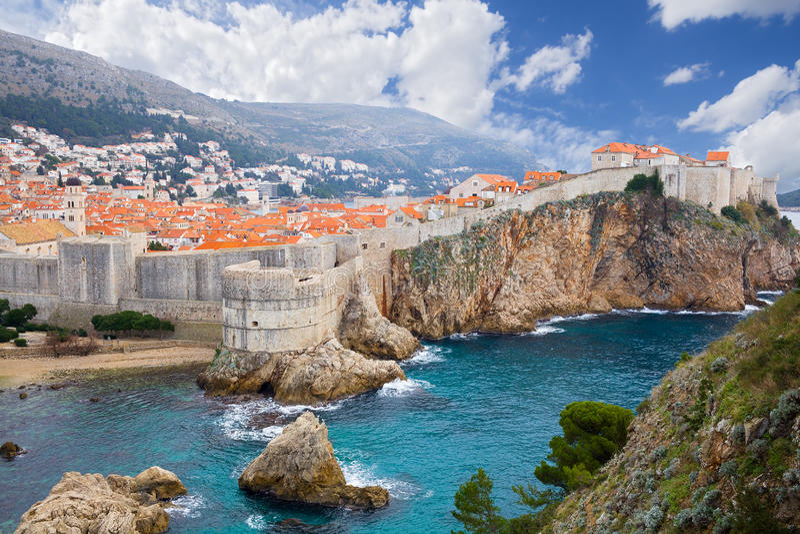 Castillo en Dubrovnik Croacia fotos de archivo libres de regalías