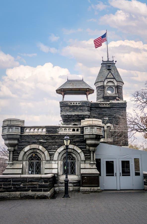 Castillo en el Central Park - Nueva York, los E.E.U.U. del belvedere imágenes de archivo libres de regalías