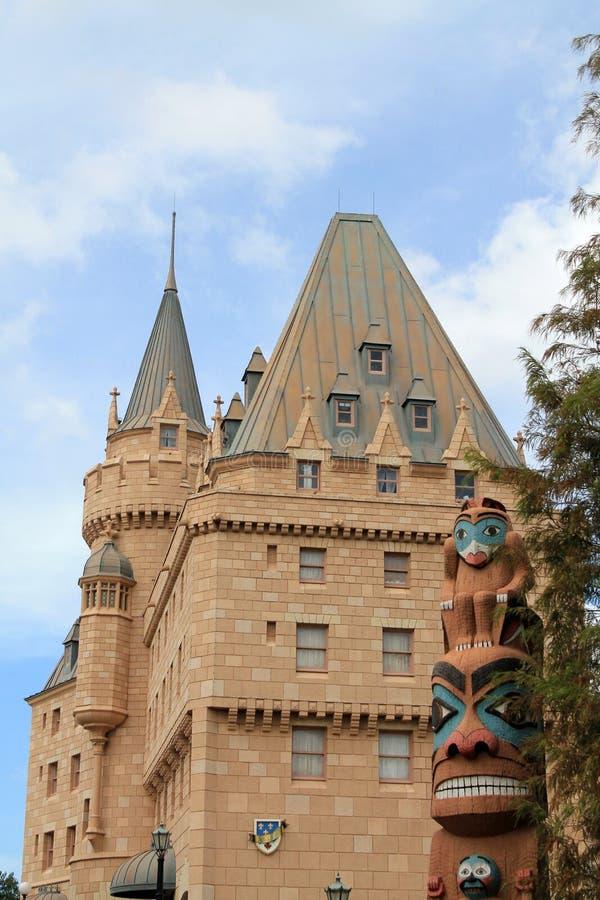 Castillo en el pabellón canadiense en Epcot foto de archivo libre de regalías