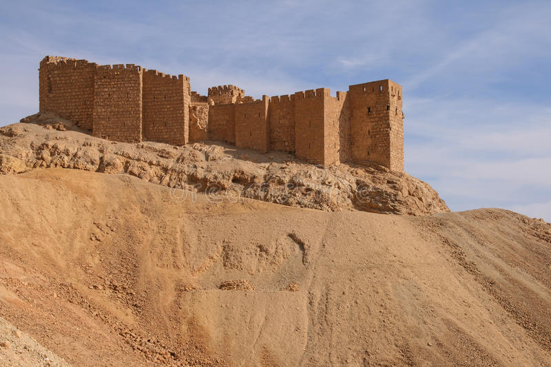Castillo en el palmyra imágenes de archivo libres de regalías