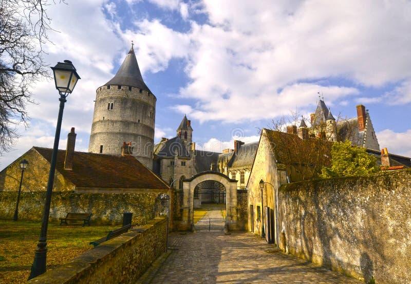 Castillo en Francia Châteaudun foto de archivo libre de regalías