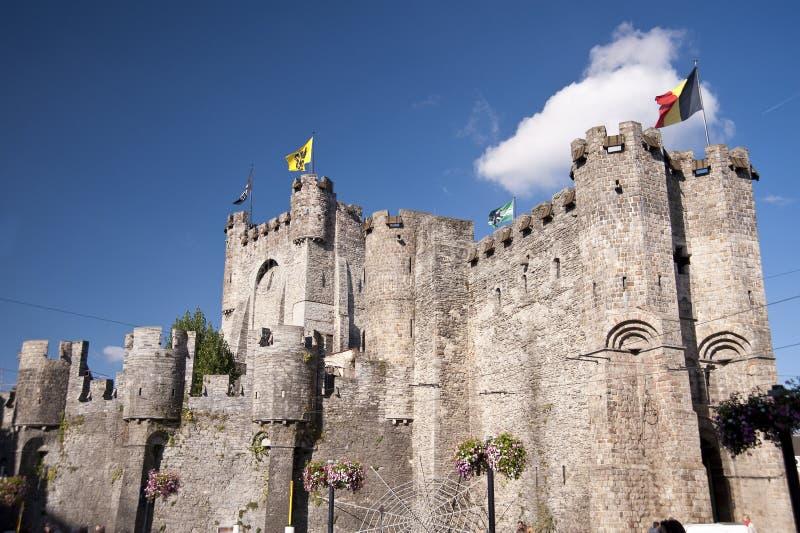 Castillo en Gante imagenes de archivo