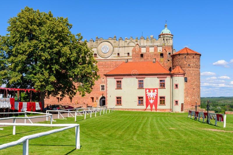 Castillo en Golub-Dobrzyn - castillo teutónico a partir de la vuelta del décimotercero y de siglos XIV, imagen de archivo