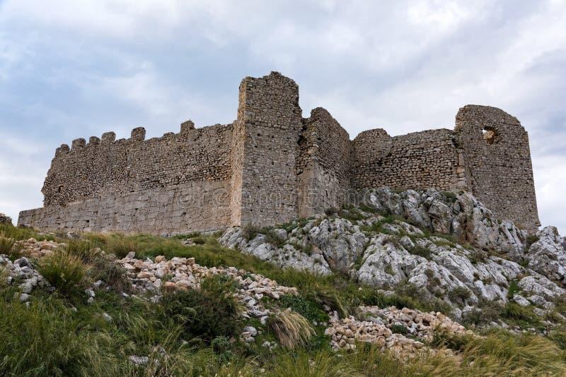 Castillo en Grecia imagen de archivo libre de regalías