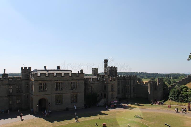 Castillo en Inglaterra fotos de archivo