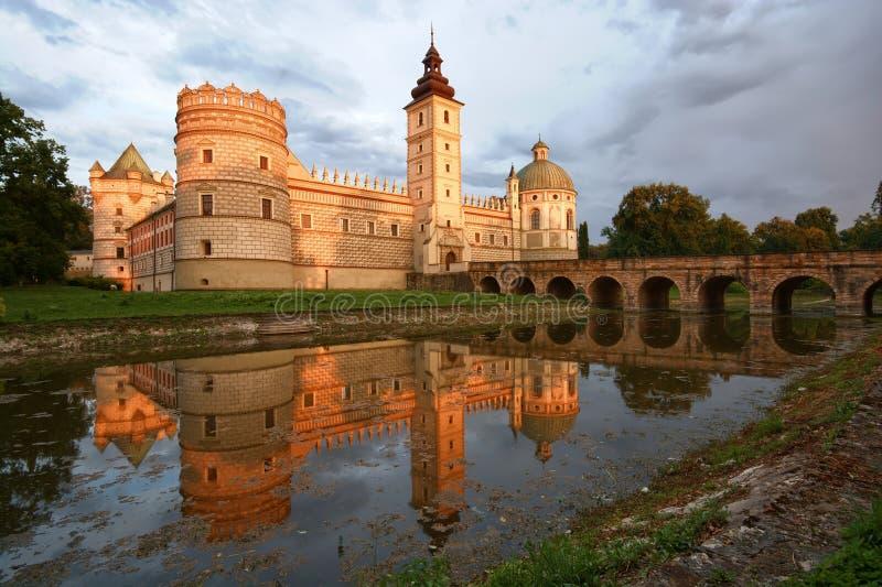 Castillo en Krasiczyn fotografía de archivo libre de regalías