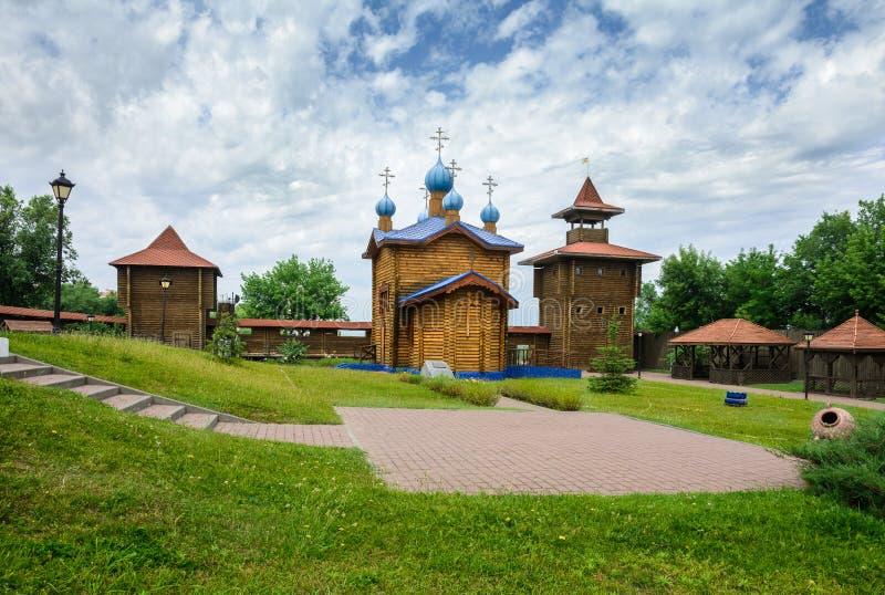 Castillo en la ciudad de Mozyr belarus foto de archivo libre de regalías