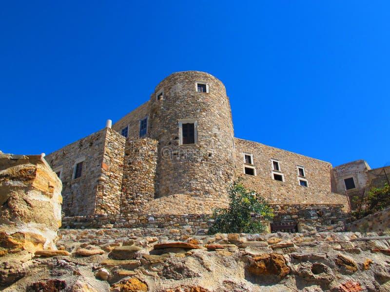 Castillo en la ciudad de Naxos imágenes de archivo libres de regalías