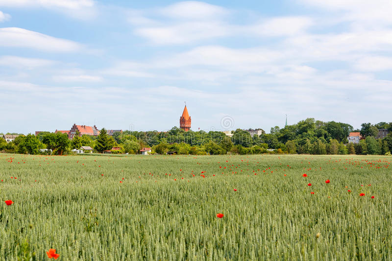 Castillo en la región de Pomerania, Polonia de Malbork imágenes de archivo libres de regalías
