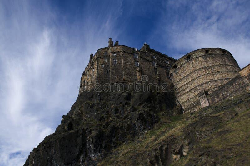 Castillo en la roca, imagen detallada de Edimburgo fotos de archivo