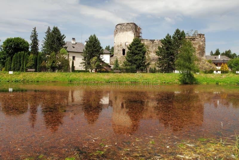 Castillo en Liptovsky Hradok fotos de archivo