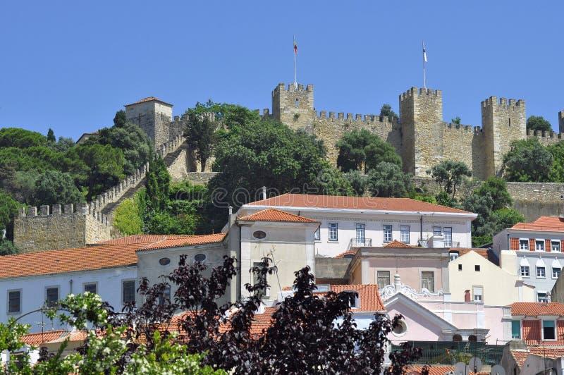 Castillo en Lisboa foto de archivo