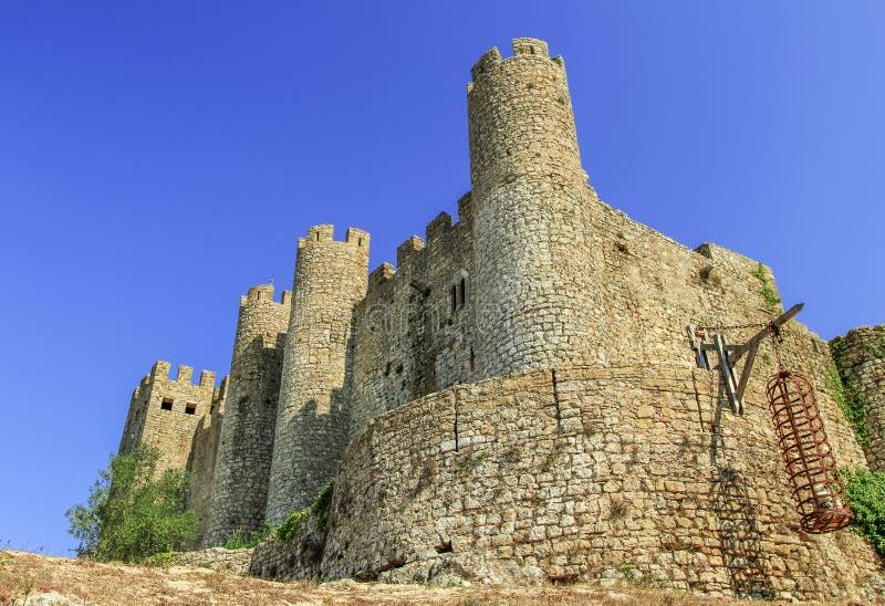 Castillo en Obidos, Portugal imagen de archivo libre de regalías