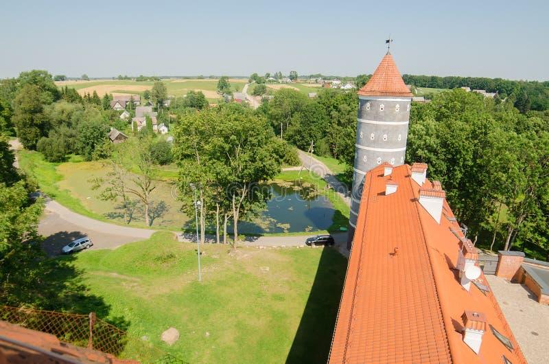Castillo en Panemune, Lituania foto de archivo