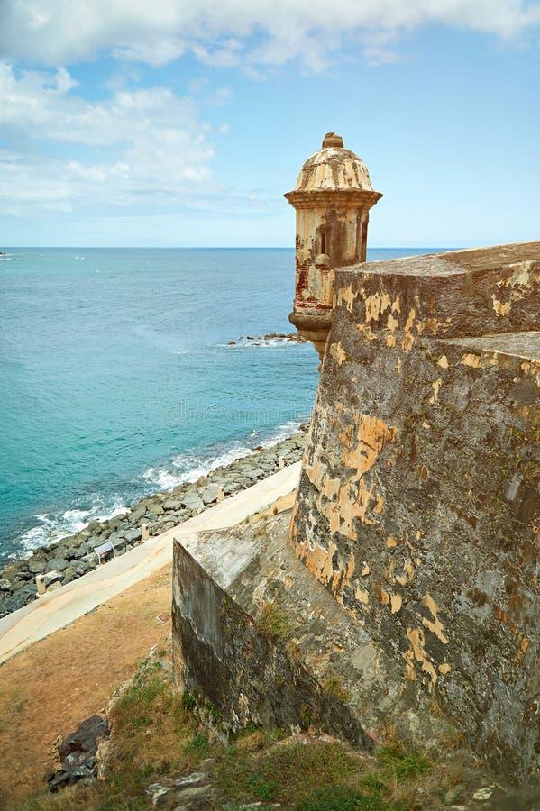 Castillo en Puerto Rico fotos de archivo
