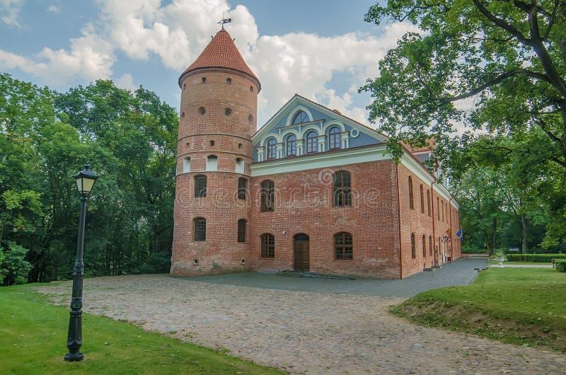 Castillo en Raudondvaris, Lituania imagen de archivo