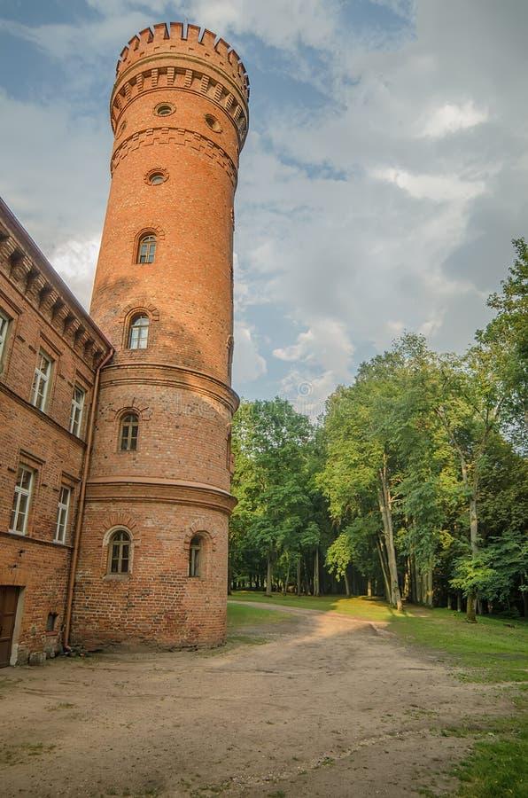 Castillo en Raudone foto de archivo