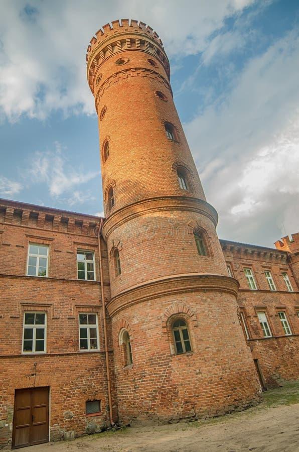 Castillo en Raudone imagen de archivo libre de regalías