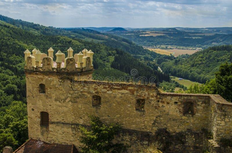 Castillo en República Checa fotos de archivo