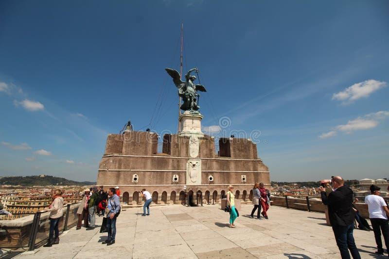 Castillo en Roma, tejado fotos de archivo libres de regalías
