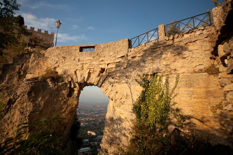 Castillo en San Marino foto de archivo