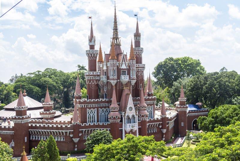 Castillo en Taman Mini Park, Indonesia fotografía de archivo libre de regalías