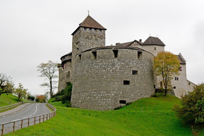 Castillo en Vaduz, Lichtenstein imagen de archivo libre de regalías
