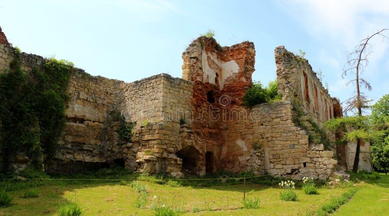 Castillo envejecido, edificio de la arquitectura en la parte occidental de Ukrain foto de archivo libre de regalías