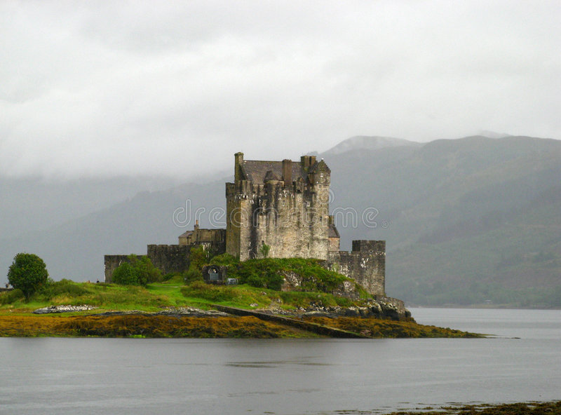 Castillo escocés 02 de la montaña fotos de archivo