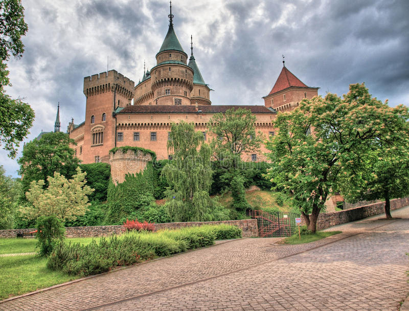 Castillo Eslovaquia de Bojnice imagen de archivo