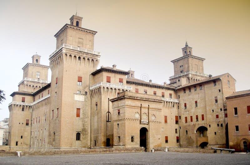Castillo Estense fotografía de archivo