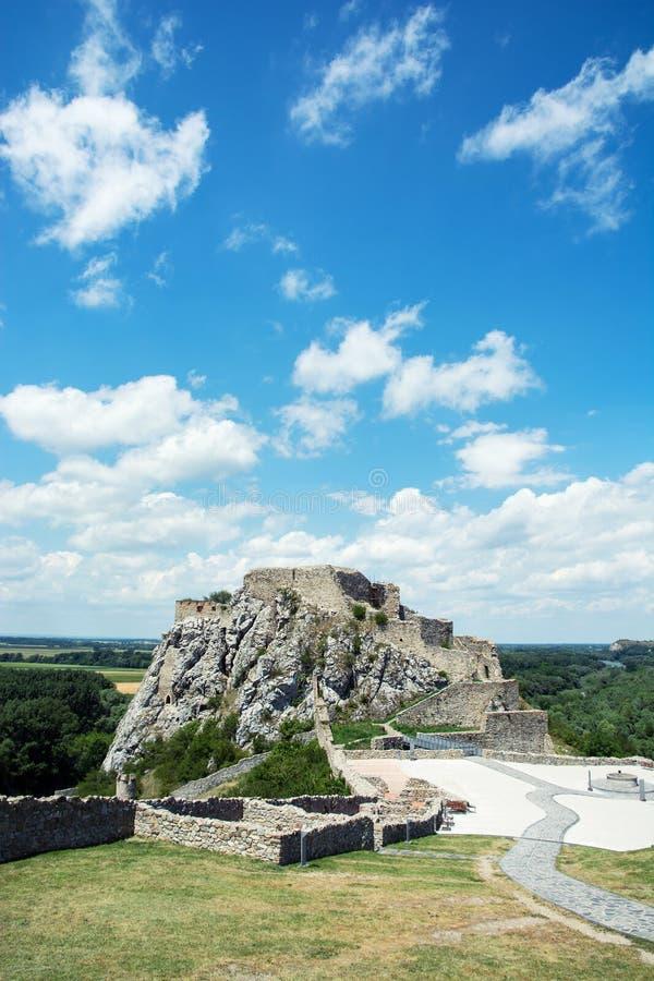 Castillo famoso Devin imágenes de archivo libres de regalías