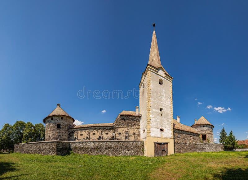 Castillo fortificado medieval fotografía de archivo