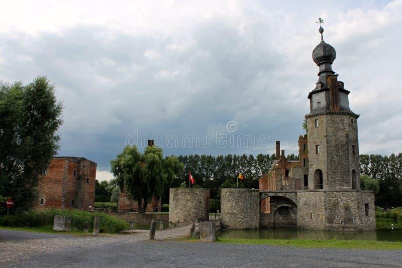 Castillo francés d 'Havre, Mons, Bélgica fotografía de archivo libre de regalías