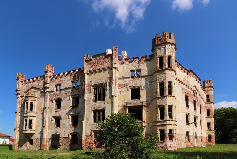 Castillo francés de Cesky Rudolec fotos de archivo