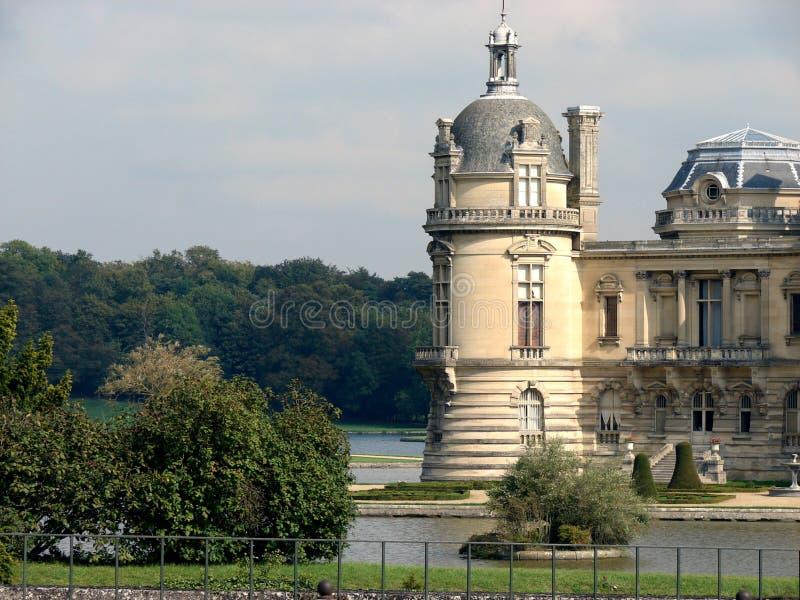 Castillo francés de Chantilly fotos de archivo libres de regalías